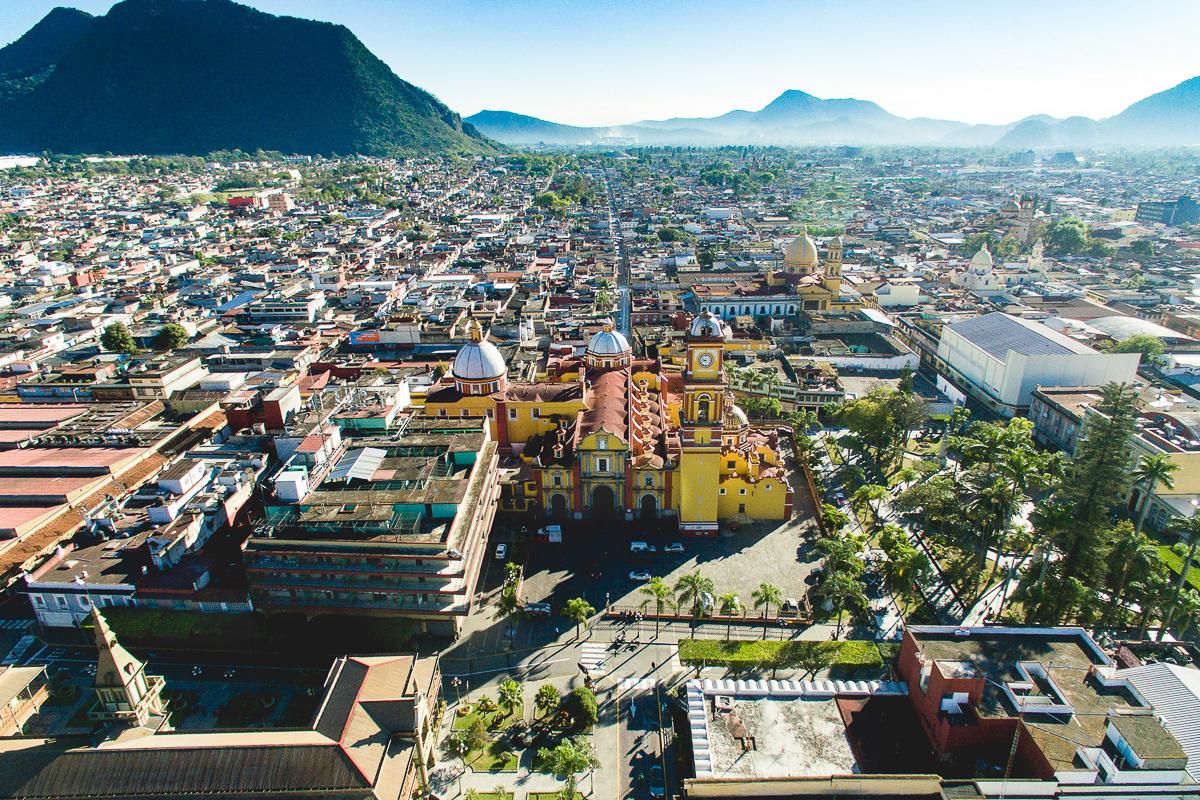 Orizaba Pueblo Mágico amanecer drone catedral