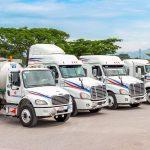 Flotilla de camiones tracto full autotransportes isquisa