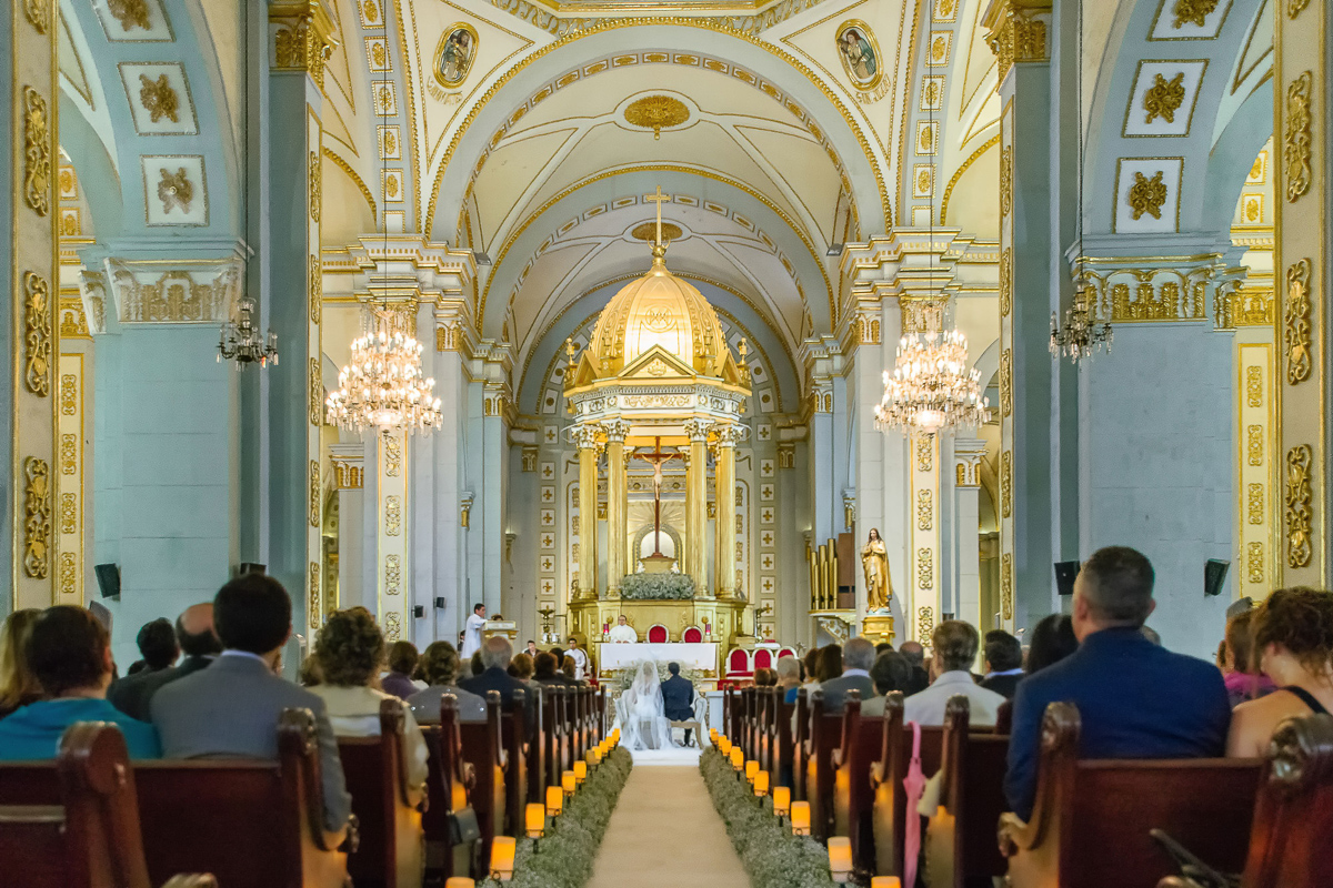 Bodas Córdoba Veracruz novios altar gente catedral