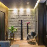 Interior casa arquitectura decoración cuarto de tv
