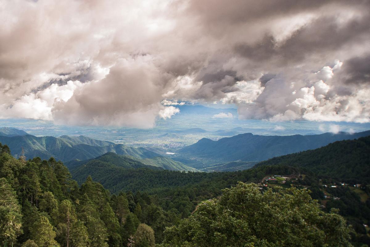 Paisaje Oaxaca atardecer nubes